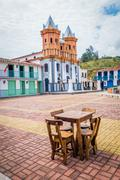 Beautiful Old town replica, Guatape, Colombia - stock photo