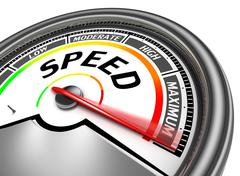 Speed conceptual meter Stock Illustration