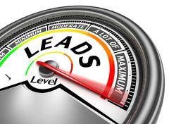 leads conceptual meter - stock illustration