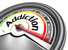 addiction conceptual meter - stock illustration