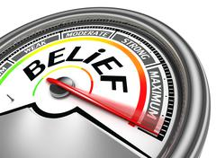 Belief conceptual meter Stock Illustration