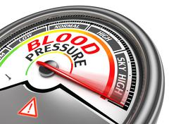Blood pressure conceptual meter Stock Illustration