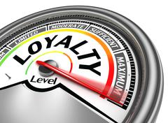 loyalty level conceptual meter - stock illustration