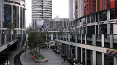 shops and malls in a business street, Beijing Sanlitun - stock footage