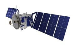 Satellite Over White Background - stock illustration
