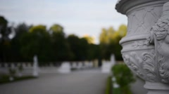 Sculpture near Branicki Palace in Bialystok Stock Footage