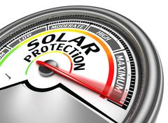 Solar protection conceptual meter Stock Illustration