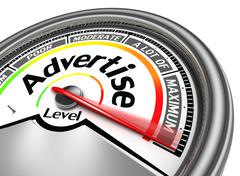 Stock Illustration of advertise conceptual meter