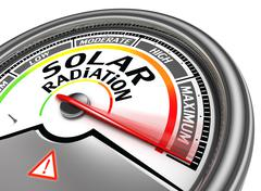 Stock Illustration of solar radiation level conceptual meter