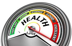 Health level conceptual meter Stock Illustration