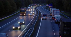 Busy highway netherlands at night Stock Footage