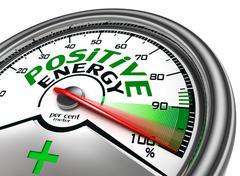 positive energy conceptual meter - stock illustration