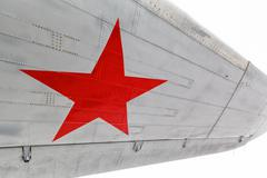 Star, the symbol of Russian Air Force on aircraft Stock Photos