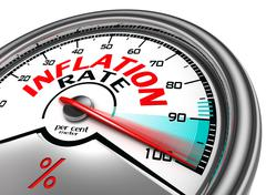 inflation rate conceptual meter - stock illustration