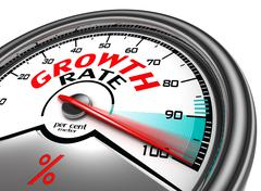 Growth rate conceptual meter Stock Illustration