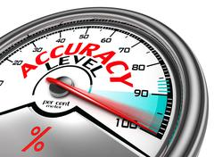 accuracy level conceptual meter - stock illustration