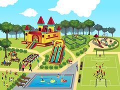 Playground map Stock Illustration