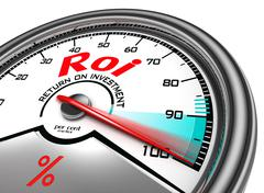 Stock Illustration of roi conceptual meter