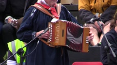 French accordion. Folk dance. Stock Footage