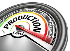 Production conceptual meter Stock Illustration