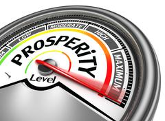 prosperity conceptual meter - stock illustration