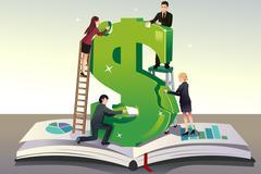 Business teamwork concept - stock illustration
