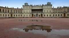 Russia,Gatchina, parade ground before palace Stock Footage