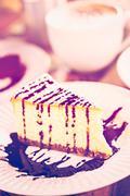 Bailey's cheesecake - stock photo