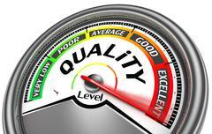 quality level meter - stock illustration