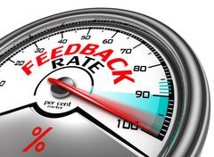 feedback rate meter - stock illustration