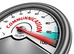 Communication level hundred per cent conceptual meter Stock Illustration