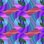 Spiral fractal pattern in bright colors - stock illustration
