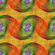 Seamless swirl fractal pattern - stock illustration