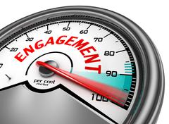 Stock Illustration of Engagement to hundred per cent conceptual meter