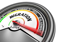 Measure the dangers caused by huge migration Stock Illustration