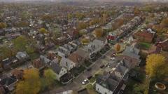 Aerial shot of Mt Washington Neighborhood in Pittsburgh, Pennsylvania Stock Footage