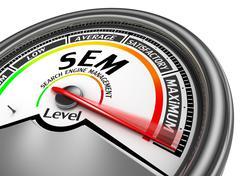 Sem level conceptual meter indicate maximum - stock illustration
