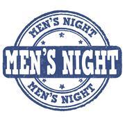 Men's night stamp Stock Illustration