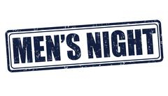 Men's night stamp - stock illustration