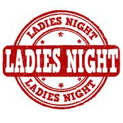 Ladies night stamp Stock Illustration