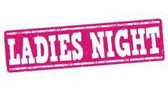 Ladies night stamp Stock Illustration
