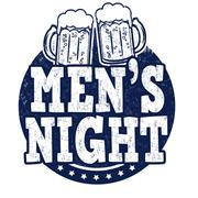 Men's night stamp - stock illustration