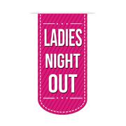 Ladies night out banner design Stock Illustration