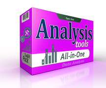 Data Analysis tools pack concept - stock illustration