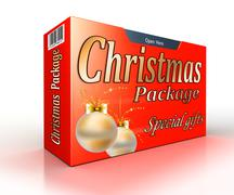 Stock Illustration of Christmas package concept red gift