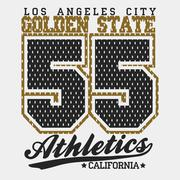 Stock Illustration of Sport Typography Graphics T-shirt