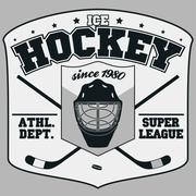 Ice Hockey Badge Stock Illustration