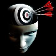 think the target and hit - stock illustration
