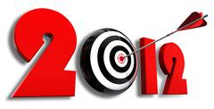 2012 new year and conceptual target - stock illustration