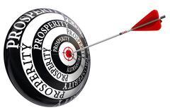 Prosperity concept target Stock Illustration